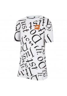 Camiseta Niño Nike SportSwear Tee Blanco/Negro CT2617-100 | scorer.es