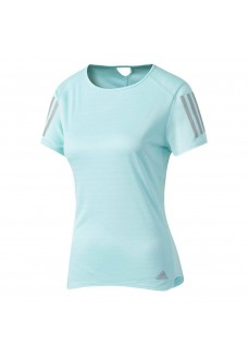 Camiseta de manga corta Adidas Turquesa