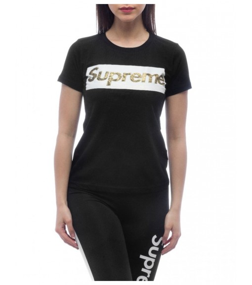 Camiseta Supreme Mujer Sleeve Laila Negra 20004-TPR-19-000-30000