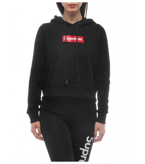 Supreme Women's Sweatshirt Hoody Print Debby Black 20021-HPR-19-000-30003   Women's Sweatshirts   scorer.es