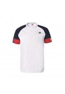 Camiseta Hombre Kappa Isiah Auth Tee Blanco/Marino 3112DLW_A09 | scorer.es