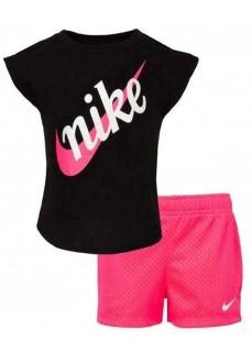 Traje Niña Nike Knit Negro/Fucsia 36F519-A96 | scorer.es