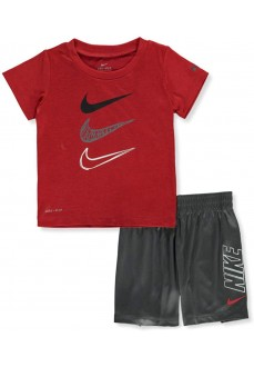 Nike Boy's Set Knit Red/Gray 66G104-GAE