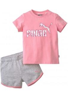 Conjunto Infantil Puma Minicats Alpha Set Gris/Rosa 581452-74