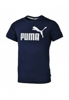 Puma Kids' T-Shirt Ess Logo Navy Blue 852542-06
