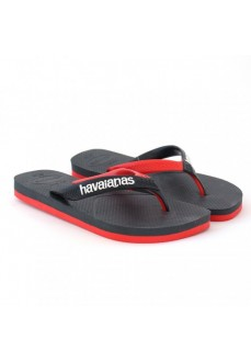 Havaianas Men's Flip Flops Casual New Graphite Black/Red 4103276-0074