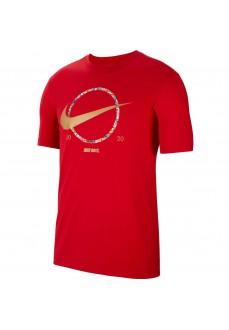 Camiseta Hombre Nike Tee Preheat Roja CT6871-657 | scorer.es
