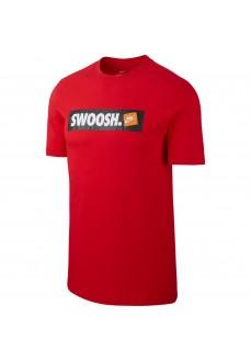 Camiseta Hombre Nike Tee Swoosh Roja AR5027-657