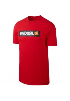 Nike Men's T-Shirt Tee Swoosh Red AR5027-657