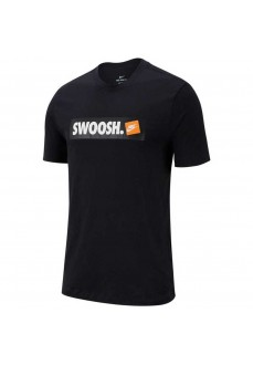 Nike Men's T-Shirt Tee Swoosh Black AR5027-100