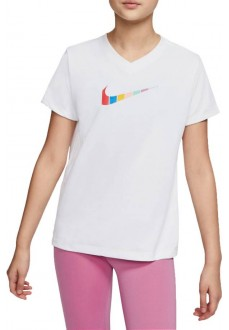 Nike Girl's T-Shirt Dri-Fit White CW3843-100