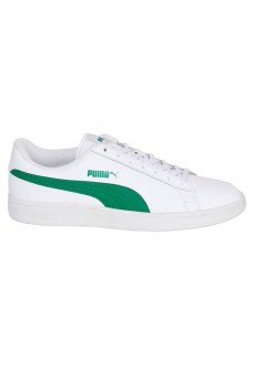 Puma Men's Trainers Smash V2 L White/Green 365215-03