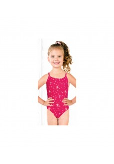 Totsol Girl's Swimsuit Estrellas Fucsia 83023 | Swimwear for Kids | scorer.es