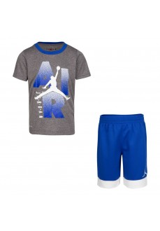 Conjunto Nike Jordan Iconic Te Mesh Gris/Azul 857549-U89