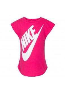 Camiseta Infantil Nike Jumbo Futura Tee Fucsia 3UD907-A4Y | scorer.es