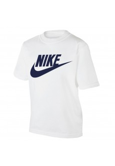 Camiseta Infantil Nike Futura SS Tee Blanco 8U7065-001