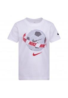 Camiseta Infantil Nike Futura Soccer Ball SS Tee Blanco 86G502-001