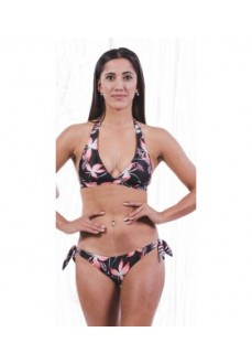 Totsol Women's Bikini Flowers Red Black 81025