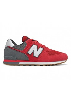 New Balance Kids' Trainers 574 Red/Gray GC574 ATG