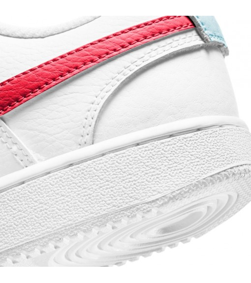 Nike Women's Court Vision Low White/Red Trainers CD5434-106   Low shoes   scorer.es