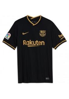 Camiseta Hombre Nike 2º FC Barcelona 2020/21 Negro/Oro CD4231-011