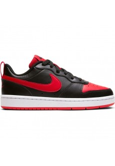 Zapatillas Niño/a Nike Court Borough Negro/Rojo BQ5448-007 | scorer.es