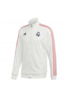 Sudadera Hombre Adidas Real Madrid 3S Blanco/Rosa GH9996