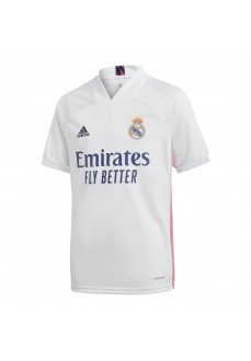 Adidas Kids' Real Madrid Home T-Shirt 2020/2021 White FQ7486