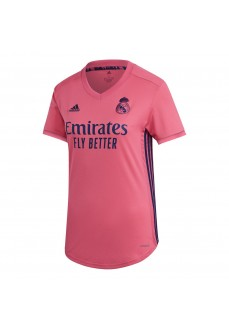 Adidas Women's Real Madrid Away T-Shirt 2020/2021 Pink FQ7497