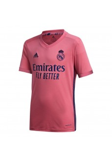 Adidas Kids' Real Madrid Away T-Shirt 2020/2021 Pink FQ7493