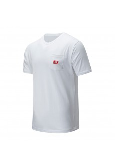 Camiseta New Balance Athletics Pocket MT01567 WHITE | scorer.es