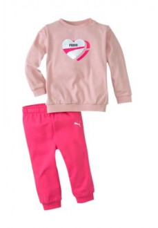 Puma Infant Tracksuit Minicats Alpha Pink 583355-15
