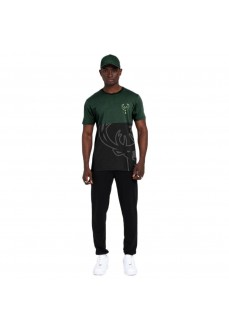 New Era Men's The League Milbuc T-Shirt Black/Green 12487533