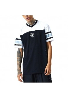 Camiseta Hombre New Era Raiders Negro/Blanco 12485731