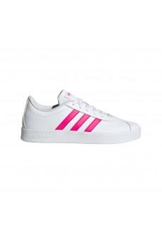 Adidas Girl's TVl Court 2.0 White/Fuchsia Trainers EG6155 | Kid's Trainers | scorer.es