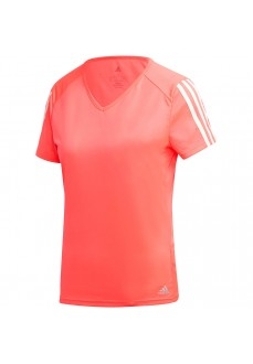 Adidas Women's Run It Tee T-Shirt 3 S Pink GM1037