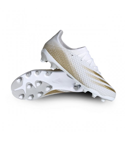Adidas Men's G X Ghosted.3 White/Gold Trainers EG8155   Men's Football Boots   scorer.es