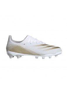 Adidas Men's G X Ghosted.3 White/Gold Trainers EG8155 | Men's Football Boots | scorer.es