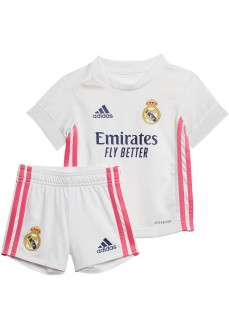 Mini Conjunto Baby 1ª Real Madrid 20/21 Blanco/Rosa FQ7484