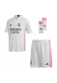 Conjunto1ª Real Madrid 20/21 Blanco/Rosa FQ7489