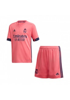 Adidas Kids' Real Madrid Away Set 2020/2021 Pink FQ7496