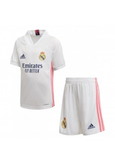 Mini Conjunto Adidas Real Madrid 1ª 20/2 Blanco/Rosa FQ7487