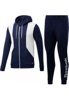 Men's Training Tracksuit Essentials Line Navy Blue/White FU3204