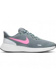 Zapatilla Niño/a Nike Revolution 5 (GS) Gris/Rosa BQ5674-015 | scorer.es