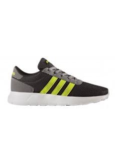 Zapatillas Adidas Lite Racer Negro/Blanco/Amarillo