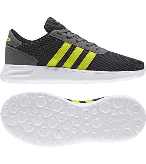 Zapatillas Adidas Lite Racer Negro/Blanco/Amarillo   scorer.es