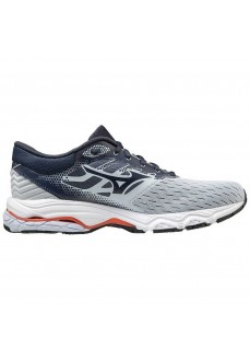 Mizuno Women's Wave Prodigy Trainers 3 Navy Blue/Gray J1GC2010-25