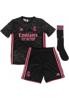 Adidas Real Madrid Away Set 20/21 Black/Pink FQ7476