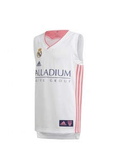 Adidas Real Madrid Kids' T-Shirt 20/21 White/Pink GI4606