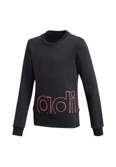 Adidas Girl's YG Logo Crew Sweatshirt Black GD6338 | Kids' Sweatshirts | scorer.es